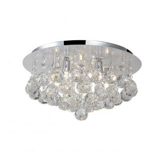 AZZARDO 1286 | Bolla Azzardo stropné svietidlo 5x G9 chróm, priesvitné, krištáľ