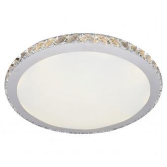 AZZARDO 1592 | Gallant Azzardo stropné svietidlo kruhový 1x LED 1440lm chróm, opál