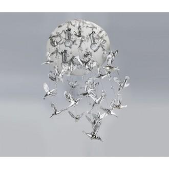 AZZARDO 2449 | Birds-AZ Azzardo visiace svietidlo 4x GU10 strieborný, krištáľ