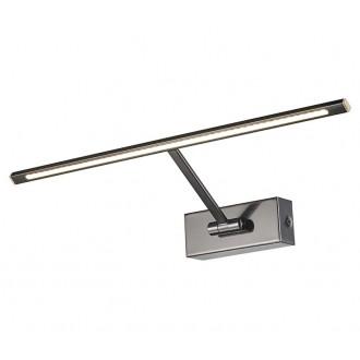 AZZARDO 2647 | Monalisa-AZ Azzardo osvetleni zrkadla svietidlo sklápacie 1x LED 275lm 3000K čierny chróm