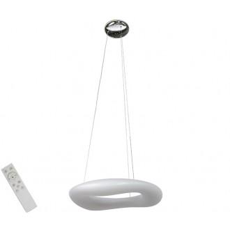 AZZARDO 2672   Donut-AZ Azzardo visiace svietidlo diaľkový ovládač regulovateľná intenzita svetla 1x LED 5440lm 2700 <-> 6000K biela
