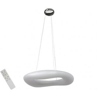 AZZARDO 2674 | Donut-AZ Azzardo visiace svietidlo diaľkový ovládač regulovateľná intenzita svetla 1x LED 13940lm 2700 <-> 6000K biela