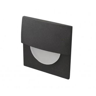 AZZARDO 2765 | Sane Azzardo zabudovateľné svietidlo 1x LED 85lm 3000K čierna