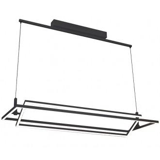 AZZARDO 2849   Viena Azzardo visiace svietidlo regulovateľná intenzita svetla 1x LED 4200lm 3000K čierna