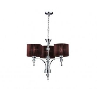 AZZARDO 2900 | Impress-AZ Azzardo luster svietidlo 3x E27 chróm, hnedá, krištáľ
