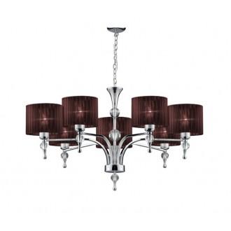 AZZARDO 2902 | Impress-AZ Azzardo luster svietidlo 7x E27 chróm, hnedá, krištáľ