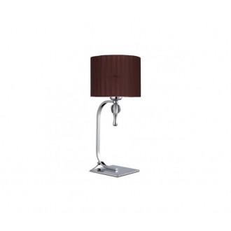 AZZARDO 2903 | Impress-AZ Azzardo stolové svietidlo 42cm prepínač 1x E27 chróm, hnedá, krištáľ