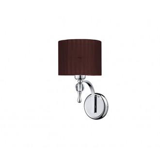 AZZARDO 2904   Impress-AZ Azzardo rameno stenové svietidlo 1x E27 chróm, hnedá, krištáľ