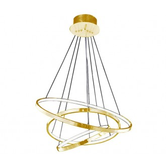AZZARDO 2918 | Wheel Azzardo visiace svietidlo 1x LED 4800lm zlatý, biela