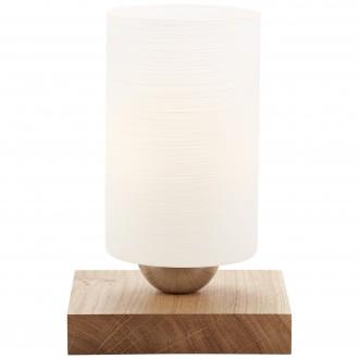 BRILLIANT 23047/35 | Nature-BRI Brilliant stolové svietidlo 20,5cm prepínač na vedení 1x E27 dub, biela