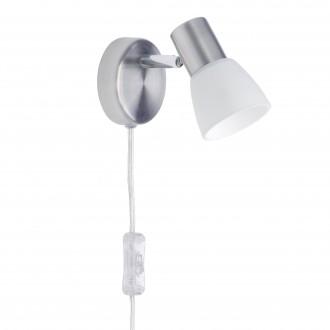 BRILLIANT 35812/77 | LucaB Brilliant spot svietidlo prepínač na vedení otočné prvky 1x E14 saténový nike, chróm, biela