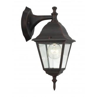 BRILLIANT 44282/55 | NewportB Brilliant rameno stenové svietidlo 1x E27 IP23 hrdzavo hnedé