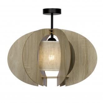 BRILLIANT 90128/71 | Wings Brilliant stropné svietidlo 1x E27 drevo, čierna
