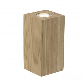 BRILLIANT 90303/35 | Match Brilliant stolové svietidlo 20cm prepínač na vedení 2x GU10 dub