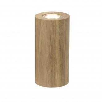BRILLIANT 90305/35 | Match Brilliant stolové svietidlo 20cm prepínač na vedení 2x GU10 dub