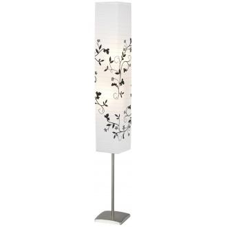 BRILLIANT 92603/81 | Nerva Brilliant stojaté svietidlo 145cm nožný vypínač 2x E14 matný nikel, biela, čierna