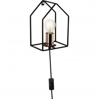 BRILLIANT 93693/29 | HomeB Brilliant rameno stenové svietidlo prepínač na vedení 1x E27 čierna, mosadz