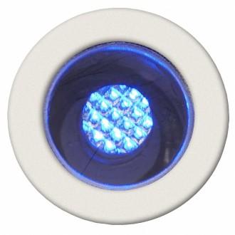 BRILLIANT G03090/73 | Cosa15 Brilliant zabudovateľné svietidlo 10 kusová sada Ø15mm 15x15mm 10x LED IP44 zušľachtená oceľ, nehrdzavejúca oceľ, modrá