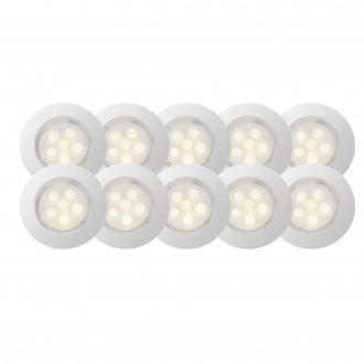 BRILLIANT G03094/75 | Cosa45 Brilliant zabudovateľné svietidlo 10 kusová sada Ø45mm 45x45mm 10x LED 45lm 2700K IP44 zušľachtená oceľ, nehrdzavejúca oceľ, s teplým bielym svetlom