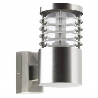 BRILLIANT G43281/82 | Finnigan Brilliant rameno stenové svietidlo hriadeľ 1x E27 IP44 zušľachtená oceľ, nehrdzavejúca oceľ
