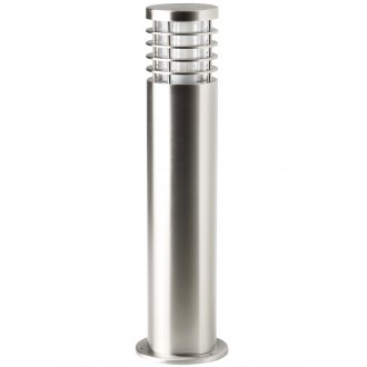 BRILLIANT G43284/82 | Finnigan Brilliant stojaté svietidlo hriadeľ 50cm 1x E27 IP44 zušľachtená oceľ, nehrdzavejúca oceľ