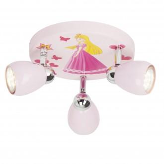 BRILLIANT G55934/17 | PrincessB Brilliant stropné svietidlo otočné prvky 3x GU10 250lm 3000K ružová