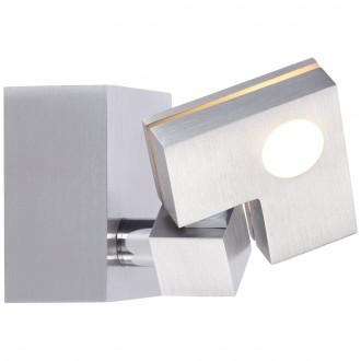 BRILLIANT G72510/21 | 90-Degree Brilliant stropné svietidlo dotykový vypínač otočné prvky 1x LED 380lm 3000K hliník