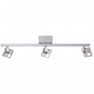 BRILLIANT G72516/21 | 90-Degree Brilliant stropné svietidlo dotykový vypínač otočné prvky 3x LED 1140lm 3000K hliník