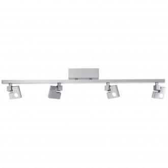 BRILLIANT G72531/21 | 90-Degree Brilliant stropné svietidlo dotykový vypínač otočné prvky 4x LED 1520lm 3000K hliník