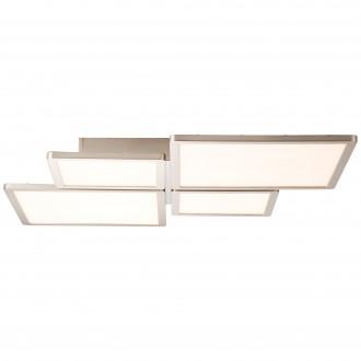 BRILLIANT G90179/68 | Scope-BRI Brilliant stropné svietidlo diaľkový ovládač regulovateľná intenzita svetla 1x LED 4400lm 2700 <-> 6200K nikel, biela