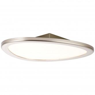BRILLIANT G90192/68 | Stone-BRI Brilliant stropné svietidlo diaľkový ovládač regulovateľná intenzita svetla 1x LED 2195lm 2700 <-> 6200K nikel, biela