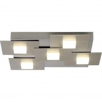 BRILLIANT G90236/13 | Numbers Brilliant stropné svietidlo trojstupňový prepínač 5x LED 2255lm 3000K saténový nike, biela