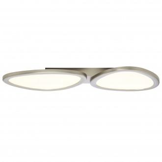 BRILLIANT G90284/68 | Stone-BRI Brilliant stropné svietidlo diaľkový ovládač regulovateľná intenzita svetla 1x LED 3700lm 2700 <-> 6200K nikel, biela