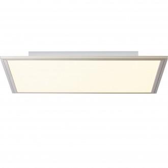 BRILLIANT G90299/68 | Flat-BRI Brilliant stropné svietidlo diaľkový ovládač regulovateľná intenzita svetla 1x LED 2400lm 2700 <-> 6200K nikel, biela