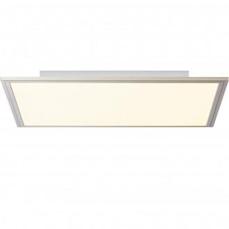 BRILLIANT G90300/68 | Flat-BRI Brilliant stropné svietidlo diaľkový ovládač regulovateľná intenzita svetla 1x LED 3500lm 2700 <-> 6200K nikel, biela