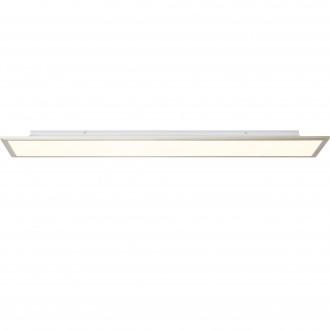BRILLIANT G90301/68 | Flat-BRI Brilliant stropné svietidlo diaľkový ovládač regulovateľná intenzita svetla 1x LED 4540lm 2700 <-> 6200K nikel, biela