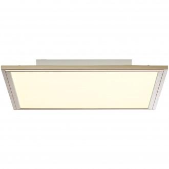 BRILLIANT G90313/68 | Flat-RGB Brilliant stropné svietidlo diaľkový ovládač regulovateľná intenzita svetla 1x LED 2500lm 2700 <-> 6200K nikel, biela