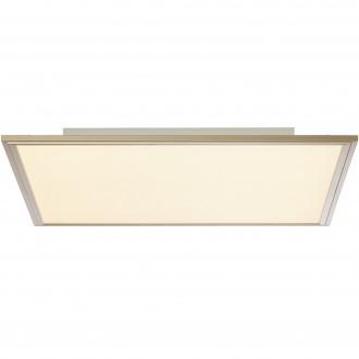 BRILLIANT G90314/68 | Flat-RGB Brilliant stropné svietidlo diaľkový ovládač regulovateľná intenzita svetla 1x LED 3500lm 2700 <-> 6200K nikel, biela