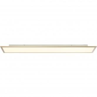 BRILLIANT G90315/68 | Flat-RGB Brilliant stropné svietidlo diaľkový ovládač regulovateľná intenzita svetla 1x LED 4500lm 2700 <-> 6200K nikel, biela
