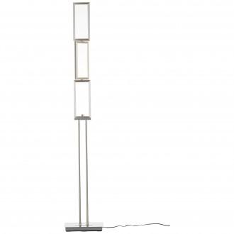 BRILLIANT G93453/21   Tunar Brilliant stojaté svietidlo 157cm prepínač s reguláciou svetla otočné prvky 1x LED 1755lm 3000K hliník