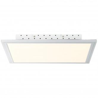 BRILLIANT G94395/05 | FlatB Brilliant stropné svietidlo diaľkový ovládač regulovateľná intenzita svetla 1x LED 2500lm 2700 <-> 6200K hliník, biela