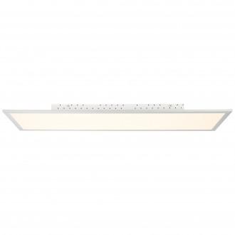 BRILLIANT G94397/05 | FlatB Brilliant stropné svietidlo diaľkový ovládač regulovateľná intenzita svetla 1x LED 5000lm 2700 <-> 6200K hliník, biela