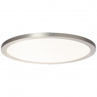 BRILLIANT G96806/68 | Smooth-WiZ Brilliant stropné svietidlo regulovateľná intenzita svetla 1x LED 2800lm 2700 <-> 6200K matný nikel