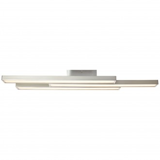 BRILLIANT G96813/68 | Sword-WiZ Brilliant stropné svietidlo regulovateľná intenzita svetla, meniace farbu 3x LED 1200lm 2700 <-> 6200K matný nikel