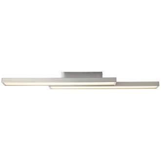 BRILLIANT G96814/68 | Sword-WiZ Brilliant stropné svietidlo regulovateľná intenzita svetla, meniace farbu 2x LED 1200lm 2700 <-> 6200K matný nikel
