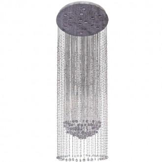 CHIARO 244016015   Cascade Chiaro stropné svietidlo 15x GU10 8060lm 2700K satén chróm, krištáľ