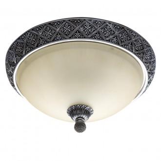 CHIARO 254015304   Bologna-MW Chiaro stropné svietidlo 4x E27 2580lm starožitná strieborná, krémové