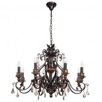 CHIARO 254018608   Bologna-MW Chiaro luster svietidlo 8x E14 5160lm antická čierna, bronzová topaz