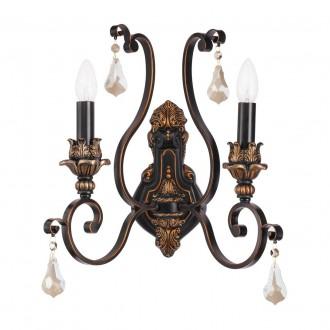 CHIARO 254028502   Bologna-MW Chiaro rameno stenové svietidlo 2x E14 1290lm antická čierna, bronzová topaz