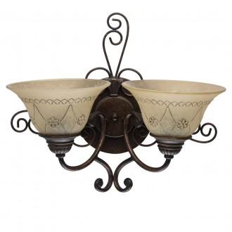 CHIARO 382022902   Magdalena-MW Chiaro rameno stenové svietidlo 2x E27 1290lm antická bronzováová, krémové